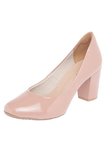 Scarpin DAFITI SHOES Salto Grosso Nude - Marca DAFITI SHOES b6d351aea82a6
