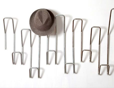 Stainless Steel Coat Rack On The Wall Next To The Whiteboard Get Rid Of Old Standing Coat Rack Wall Mounted Hat Rack Wall Hat Racks Wall Hats
