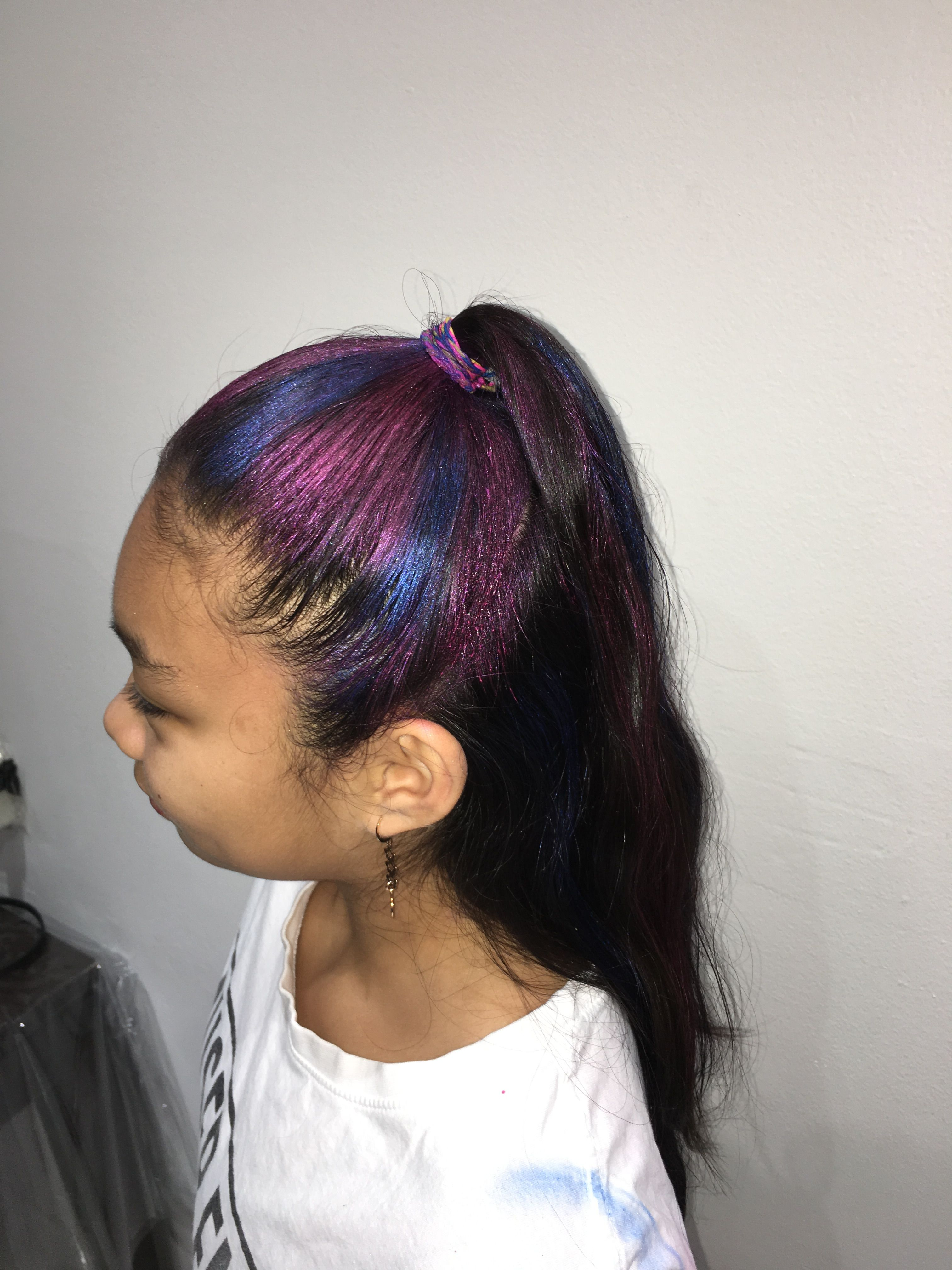 Halloween Unicorn Hair Blue And Pink Metallic Coloured Hair Spray Coloured Hair Spray Natural Hair Spray Temporary Hair Color Spray