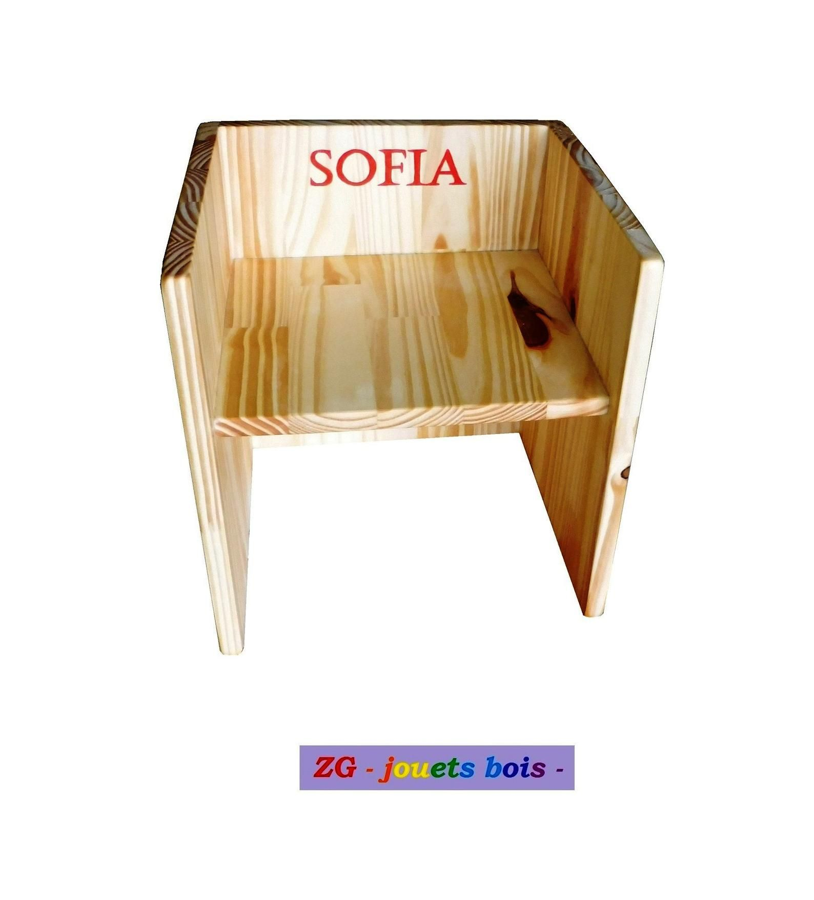 Chair Cube Montessori Scalable Wooden Chair 3primarily 1 2 Seat Heights Side Table Furniture Baby Personalized Inscription Chaises Bois Bois Jouets En Bois