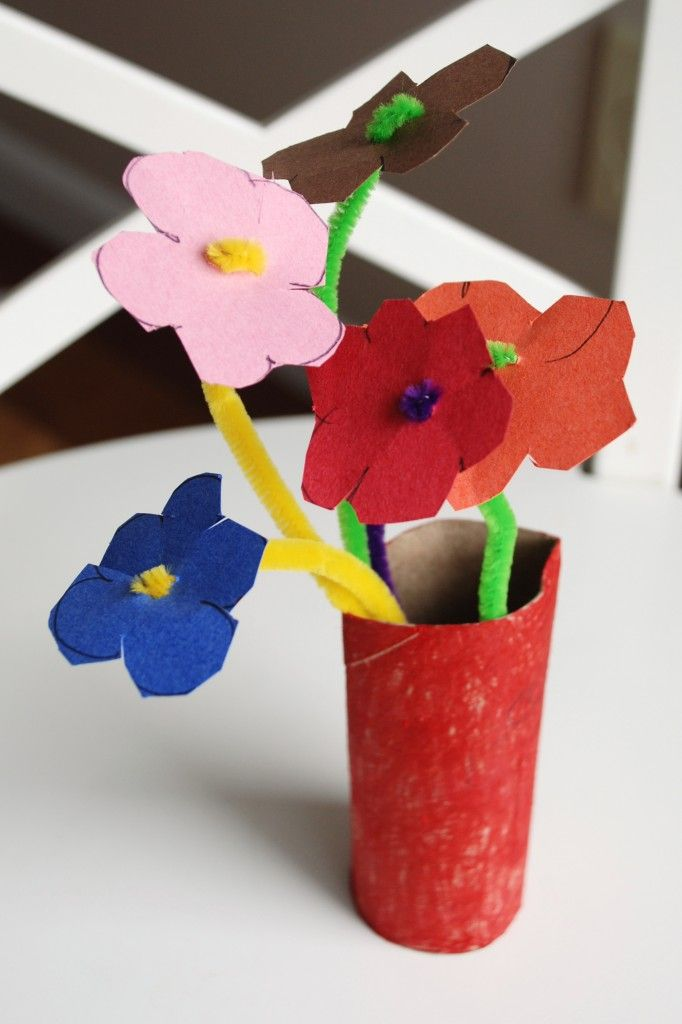 Easy Mothers Day Toilet Roll Flower Vase Craft Leilas Crafts