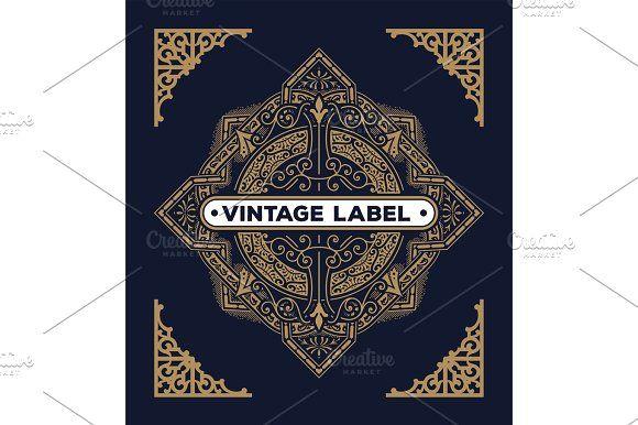 Baroque card, logo, label design Mega pack
