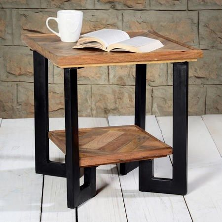 Best Buy Industrial Side Table Suri From Furniture123 The Uk 400 x 300
