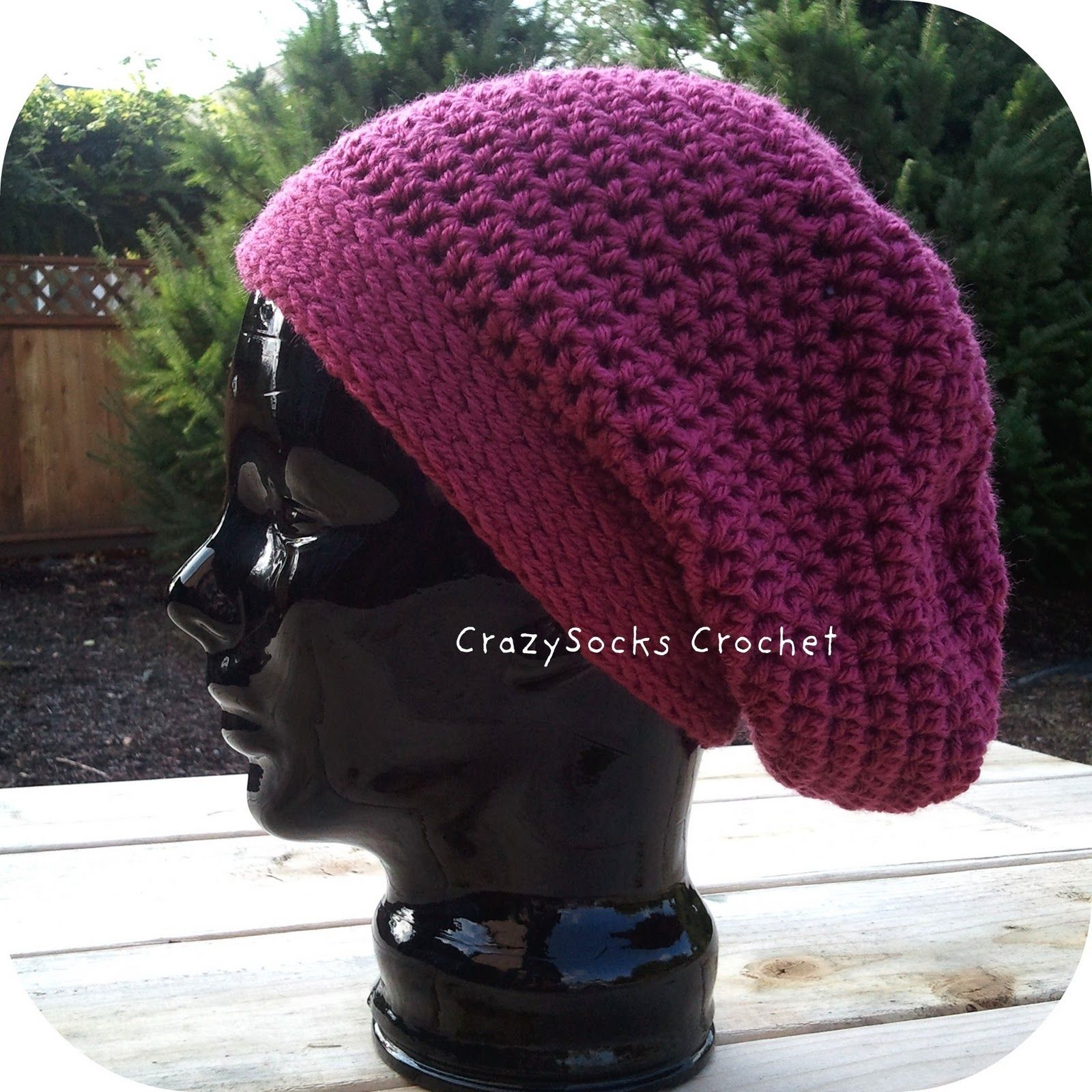 Super Slouch Hat Crochet Pattern by CrazySocks Designs