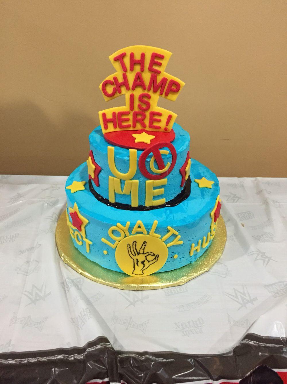 Swell John Cena Birthday Cake My Son Loved It Wwe Birthday Cakes Personalised Birthday Cards Veneteletsinfo