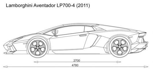 Automotive Blueprints Lamborghini Aventador Lamborghini