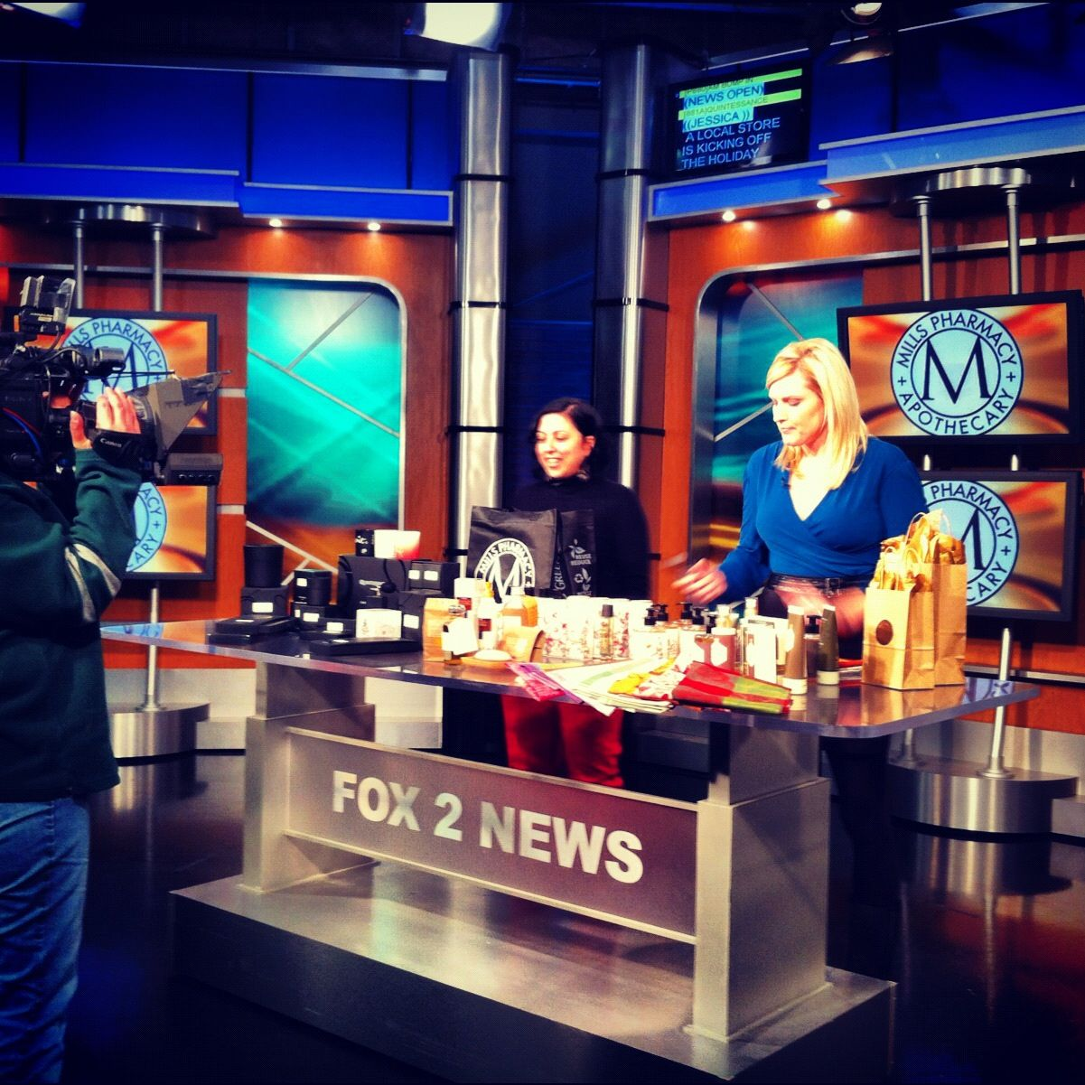 Rita, the talented retail director at Mills Pharmacy, on Fox 2 News