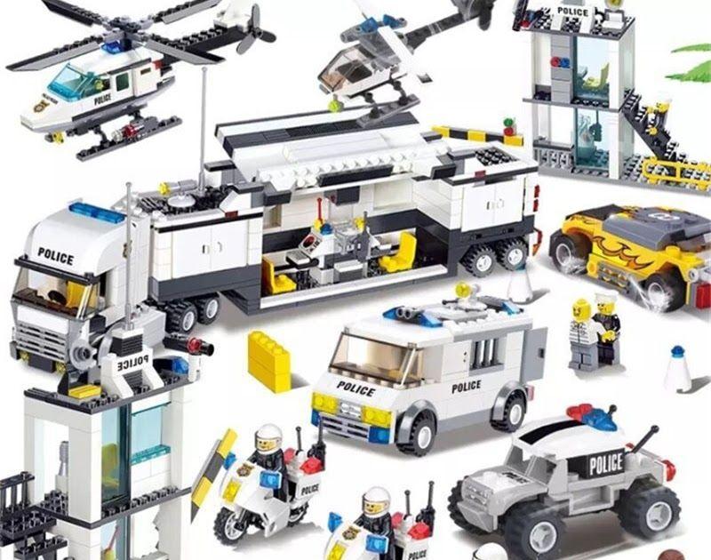 Blocks 536pcs Building Blocks Police Station Prison Figures Compatible Legoing City Enlighten Bricks Toys For Children Truck Helicopter Toys & Hobbies