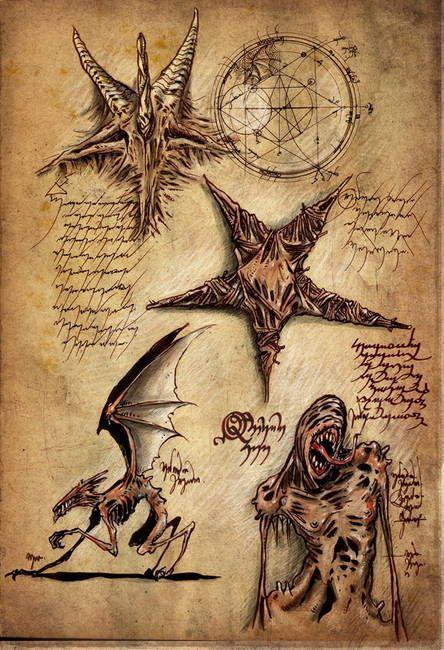 Epingle Par Acioly Sur All Things Lovecraft Cthulhu Cartes De Tarot Vintage Demonologie