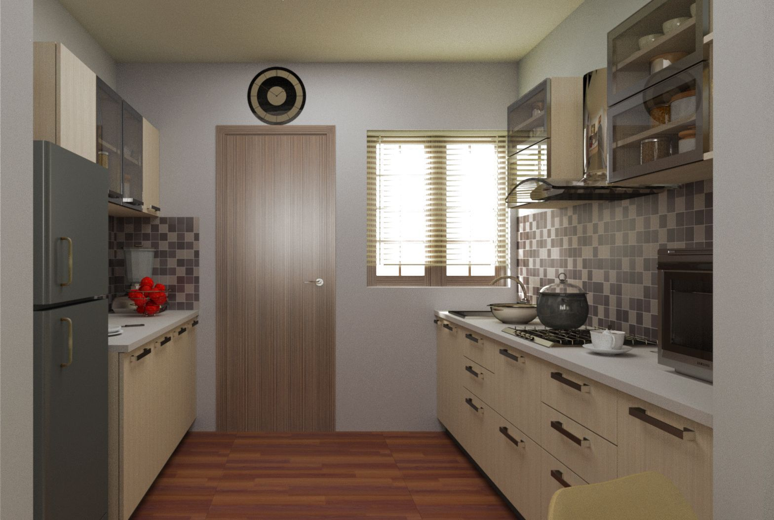 browse the various parallel kitchen designs in colour style and shape for parallel modular on kitchen interior parallel id=64506