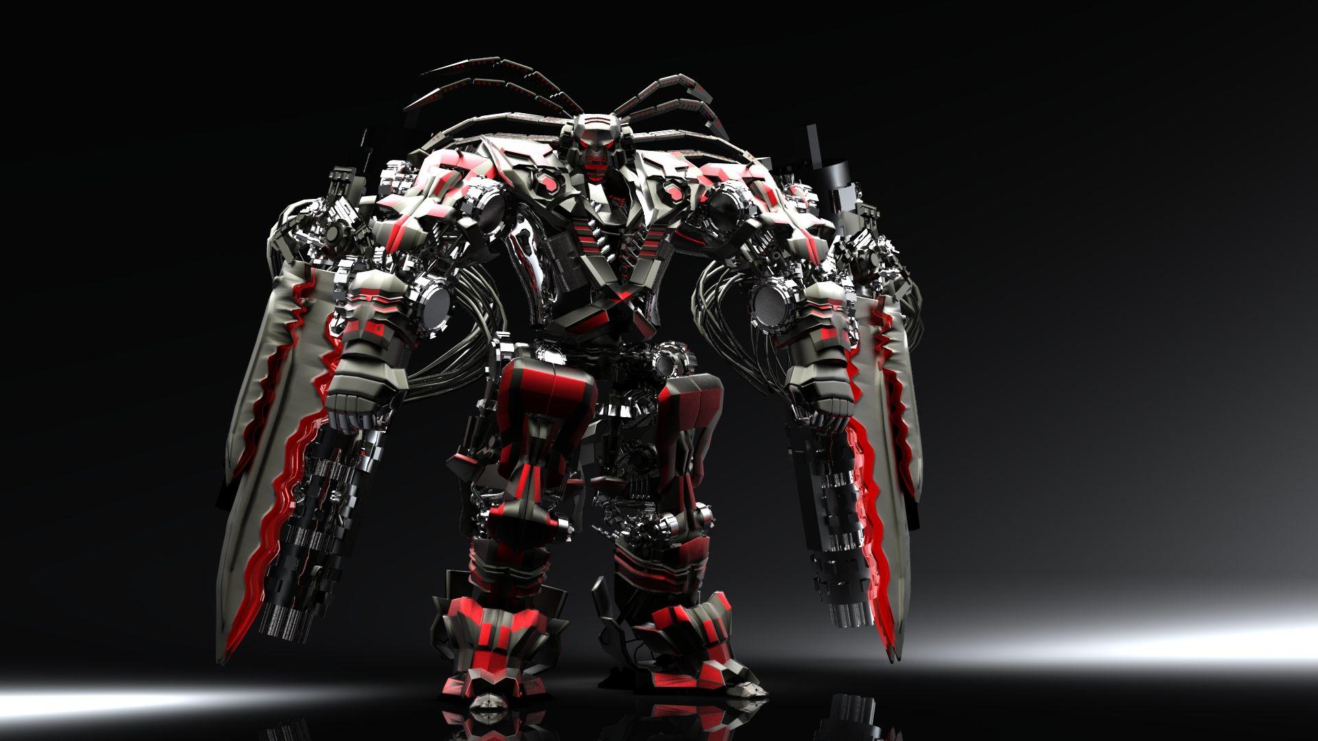 Red Black Robot Wallpaper 3d For Desktop Free Download 3325617819928 Animasi 3d Daft Punk Animasi