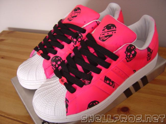 Adidas Superstar Pink And Black