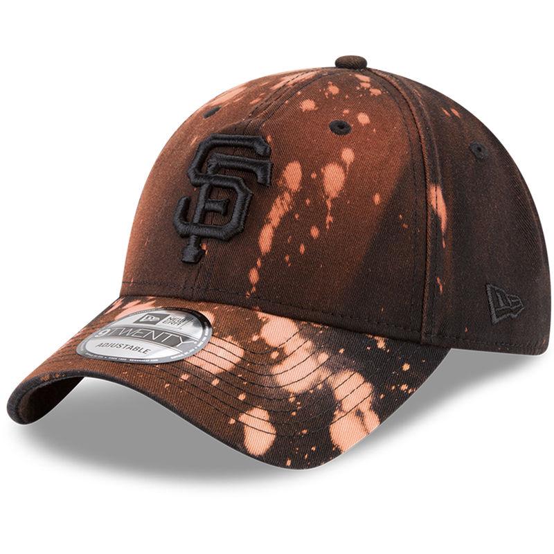 best sneakers 5c073 26e22 San Francisco Giants New Era Bleached Out 9TWENTY Adjustable Hat - Black