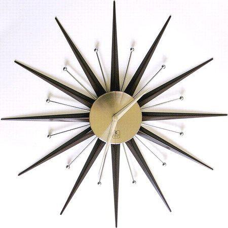 Starburst Clock Mid Century Atomic Age Space Age