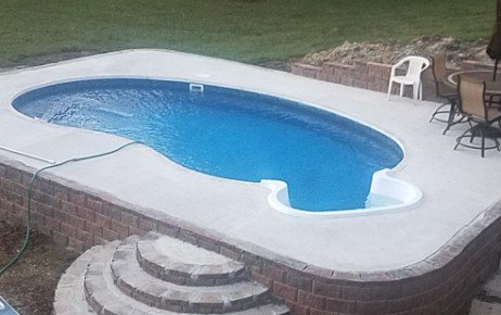 Latham 56509 Kidney Shape Rockwood On Ground Pool Kit 56509 In Ground Pools Inground Pool Designs Pool Kits