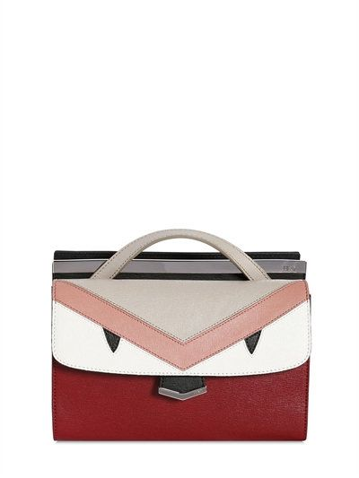 2bebdba1654 FENDI Demi Jour Monster Animation Leather Bag, Bordeaux.  fendi  bags  shoulder  bags  leather