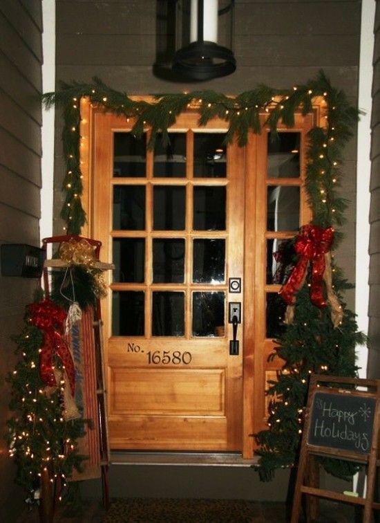 2013 Christmas Door Decor, Christmas Lights Decorations #2013 #christmas #door #decor #ideas www.loveitsomuch.com