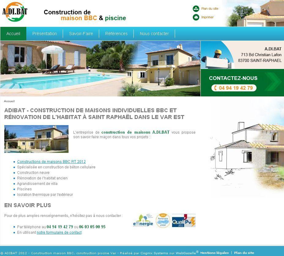 Adibat - Maisons individuelles et piscines en Provence Alpes Côte d
