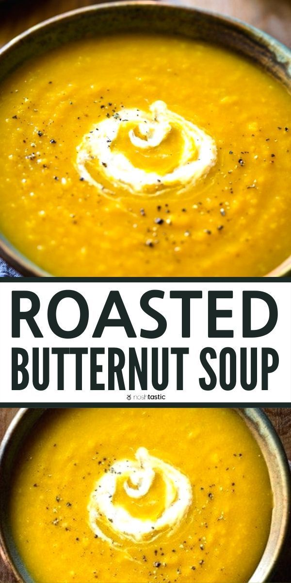 Easy Butternut Squash Soup Roasted Best Easy Healthy Recipe