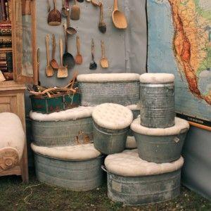 Home Amp Garden Diy Furniture Metal Tub Galvanized Buckets