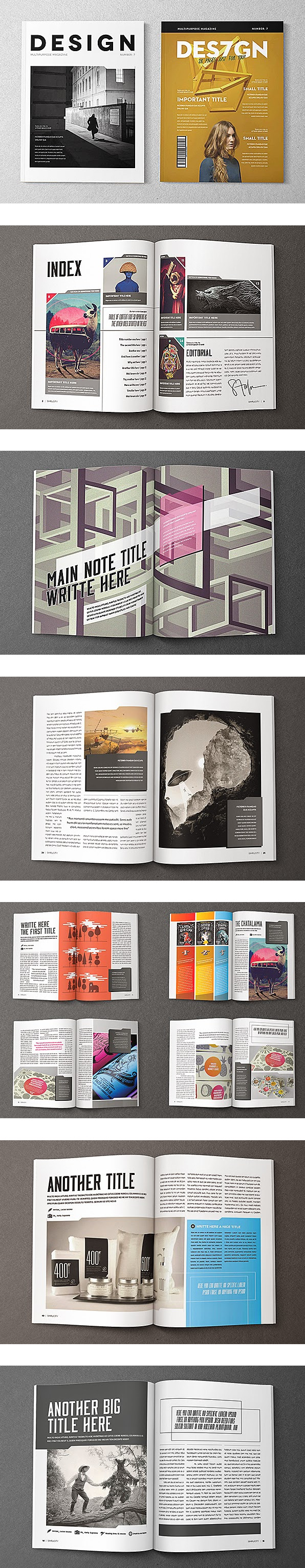 Spreading the Maglove - Free Indesign Magazine Templates | Design ...