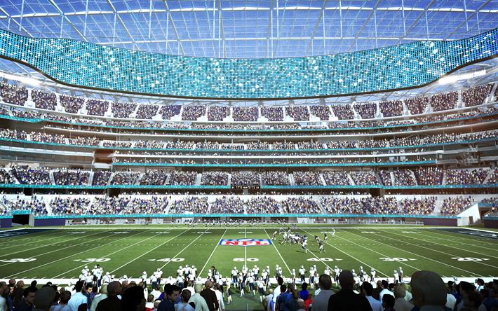 Download Wallpapers Los Angeles Stadium 4k Nfl Los Angeles Chargers Los Angeles Rams Usa America Hollywood Park Besthqwallpapers Com Nfl Estadios Los Angeles