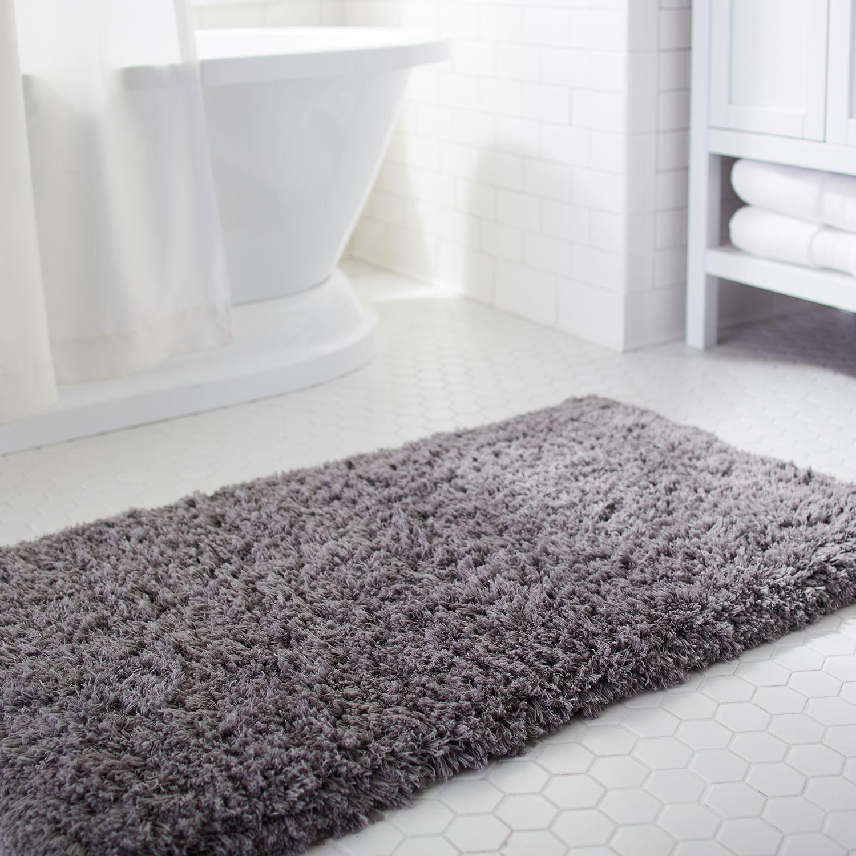 Cloud Step Memory Foam Charcoal 21x34 Bath Rug Gray Memory Foam Bath Rugs 24x60 Bath Rug Large Bathroom Rugs [ 1500 x 1500 Pixel ]