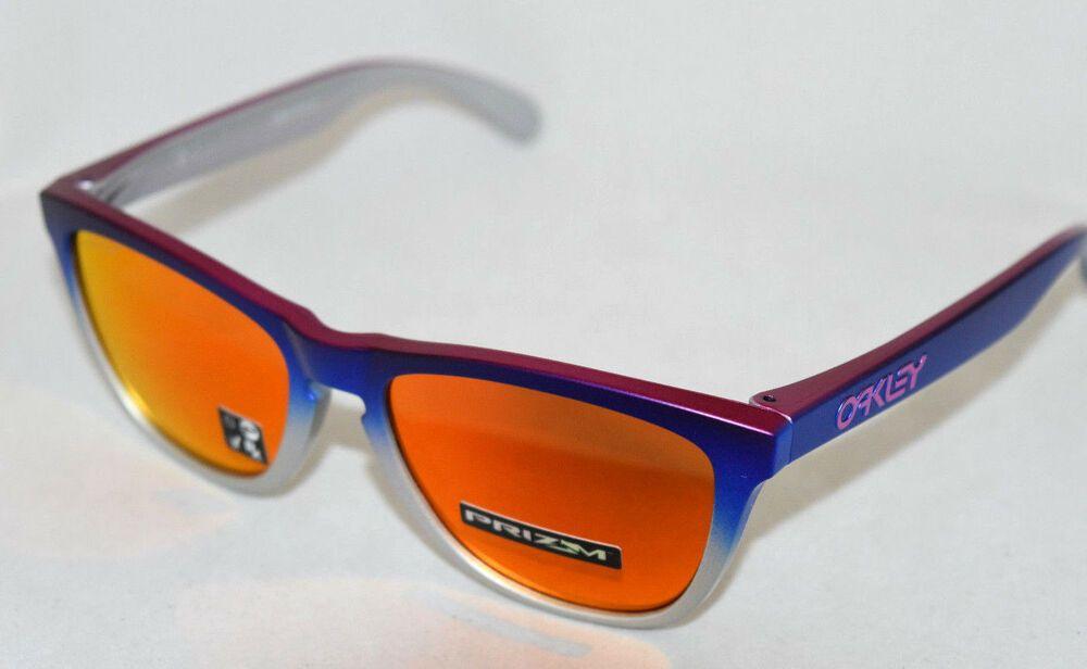 734bdd21e4 eBay  Sponsored NEW OAKLEY FROGSKINS OO9013-F155 SPLATTERFADE BLUE PINK W   PRIZM RUBY LENS