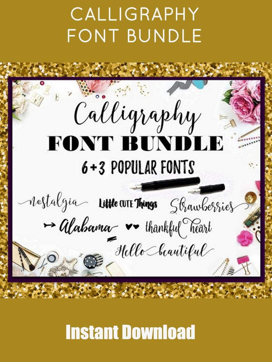Font Bundle  Fonts Fancy  Fonts Swirly  Fonts Digital  Font ...