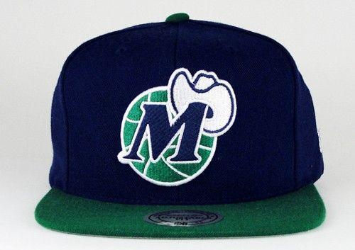 da372c83f719e ... czech mitchell ness dallas mavericks 2 tone navy green snapback  soletron hats pinterest navy green snapback