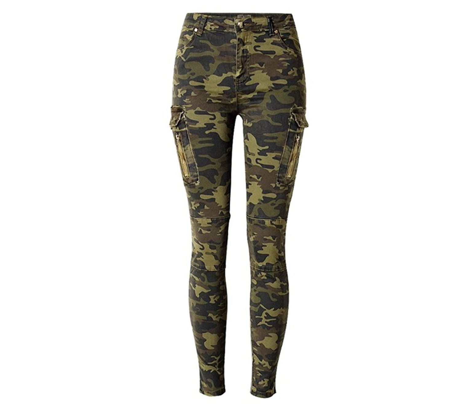Womens Ladies New Quality Fashion Army//Camouflage Wet Look Leggings//Pants