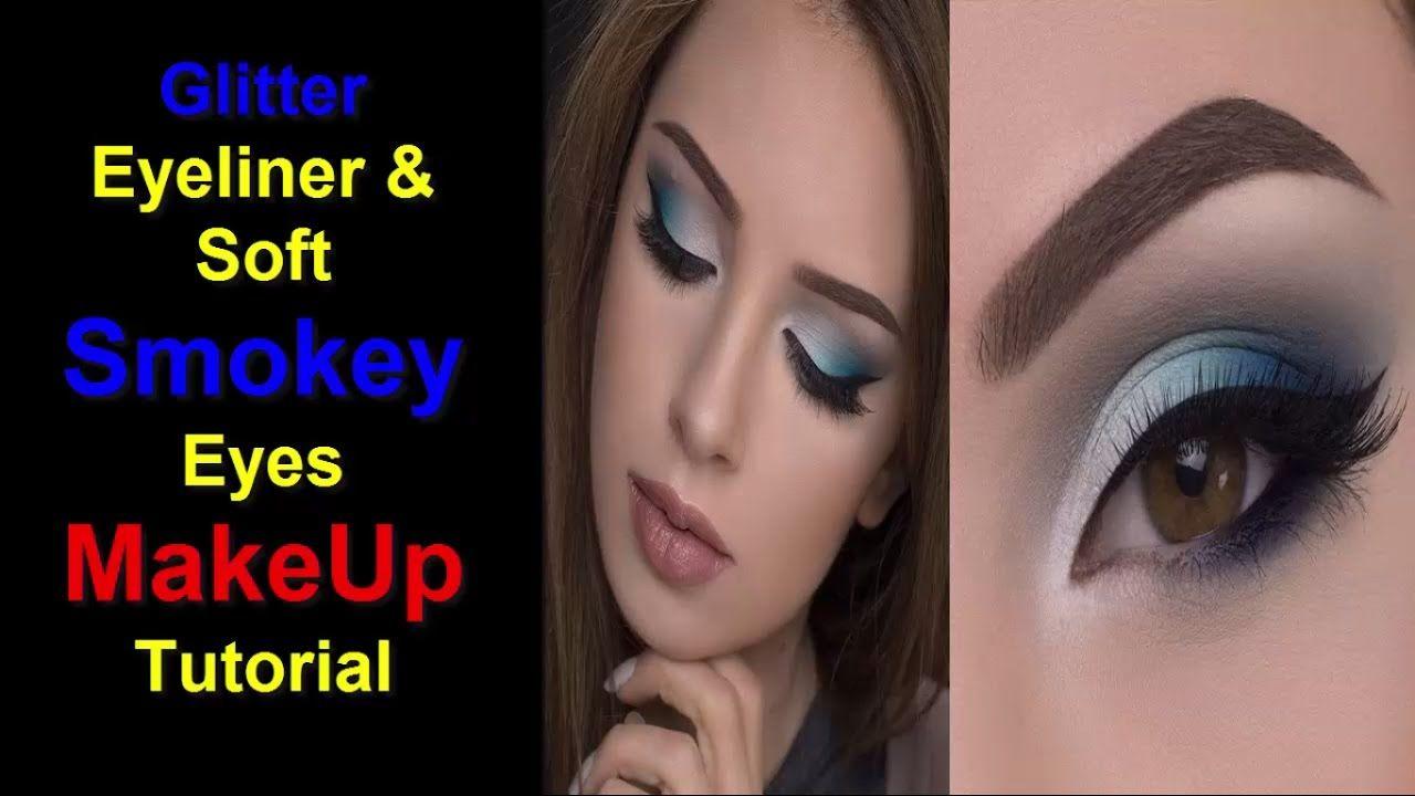 Glitter Eyeliner & Soft Smokey Eyes MakeUp Tutorial