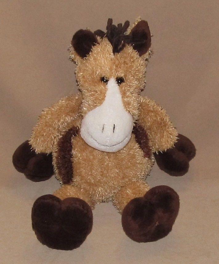 "Dan Dee Collectors Choice Horse Pony Tan Brown White Long Leg Face Plush Toy 16"" #DanDee"
