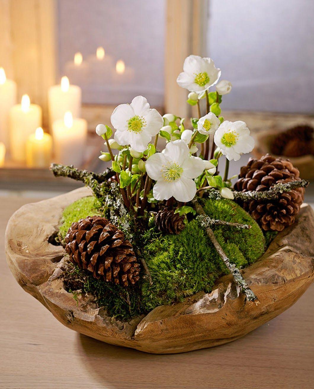 Foto #kerstbloemstukken Foto #kerstbloemstukken
