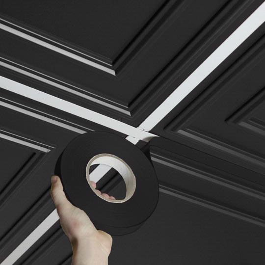 Ceilume Ceiling Tiles In 2020 Black Ceiling Tiles Tin Ceiling Ceiling Tiles