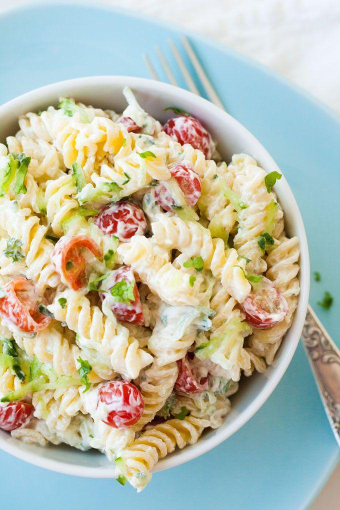 Photo of 20-minute tzatziki pasta salad