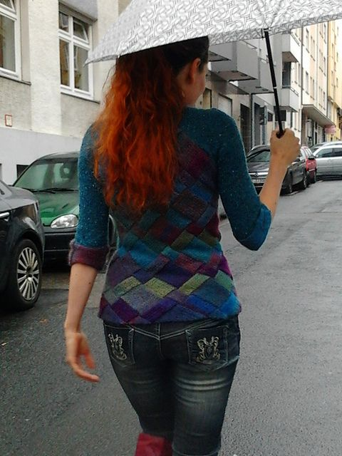 Crosswise sweater (paid on Rav) - asymmetrical entrelac | Knit ...