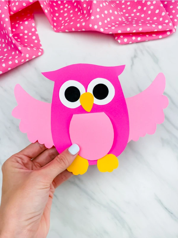 Owl Card Craft For Kids