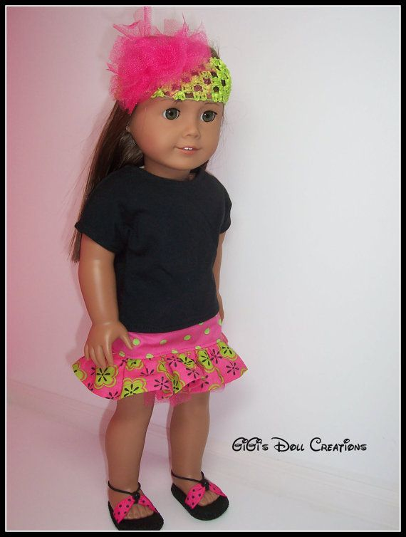 American Girl Doll Clothes ink and lime by GiGisDollCreations