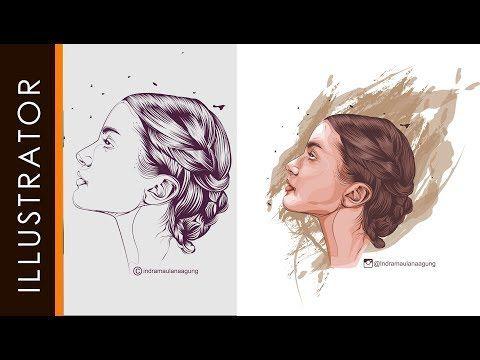 Line Art Vector Illustrator : Adobe illustrator tutorial line art coloring pen tools crazy part