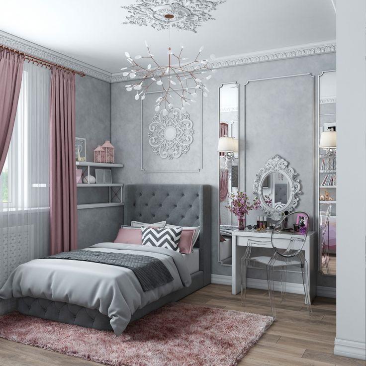 Belle chambre chambre filles chambre de chambres de filles deco rangement caftan romantique bureau mobilier