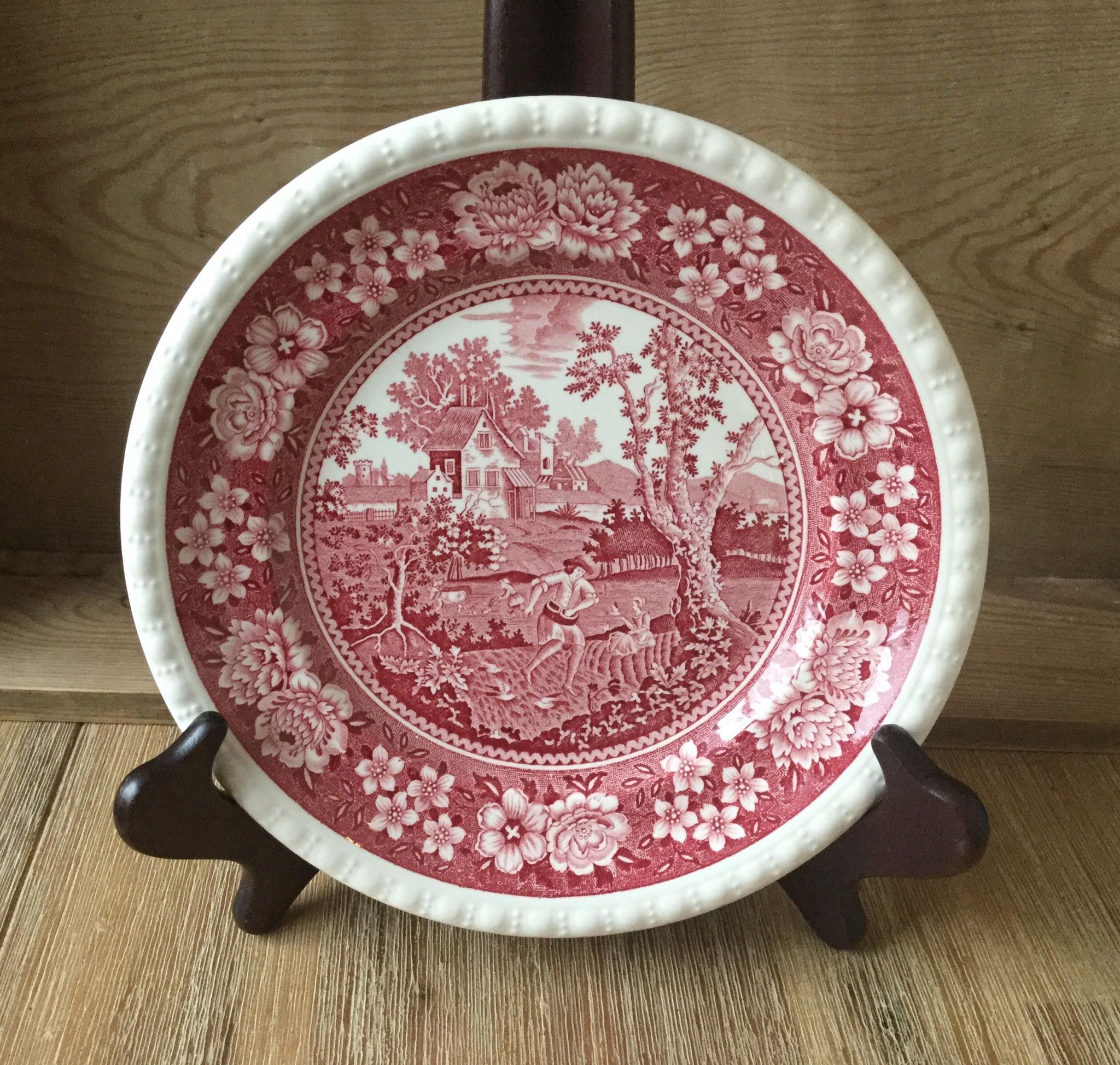 Villeroy Boch Plate Rusticana Red And White Vintage Cake Plate 8