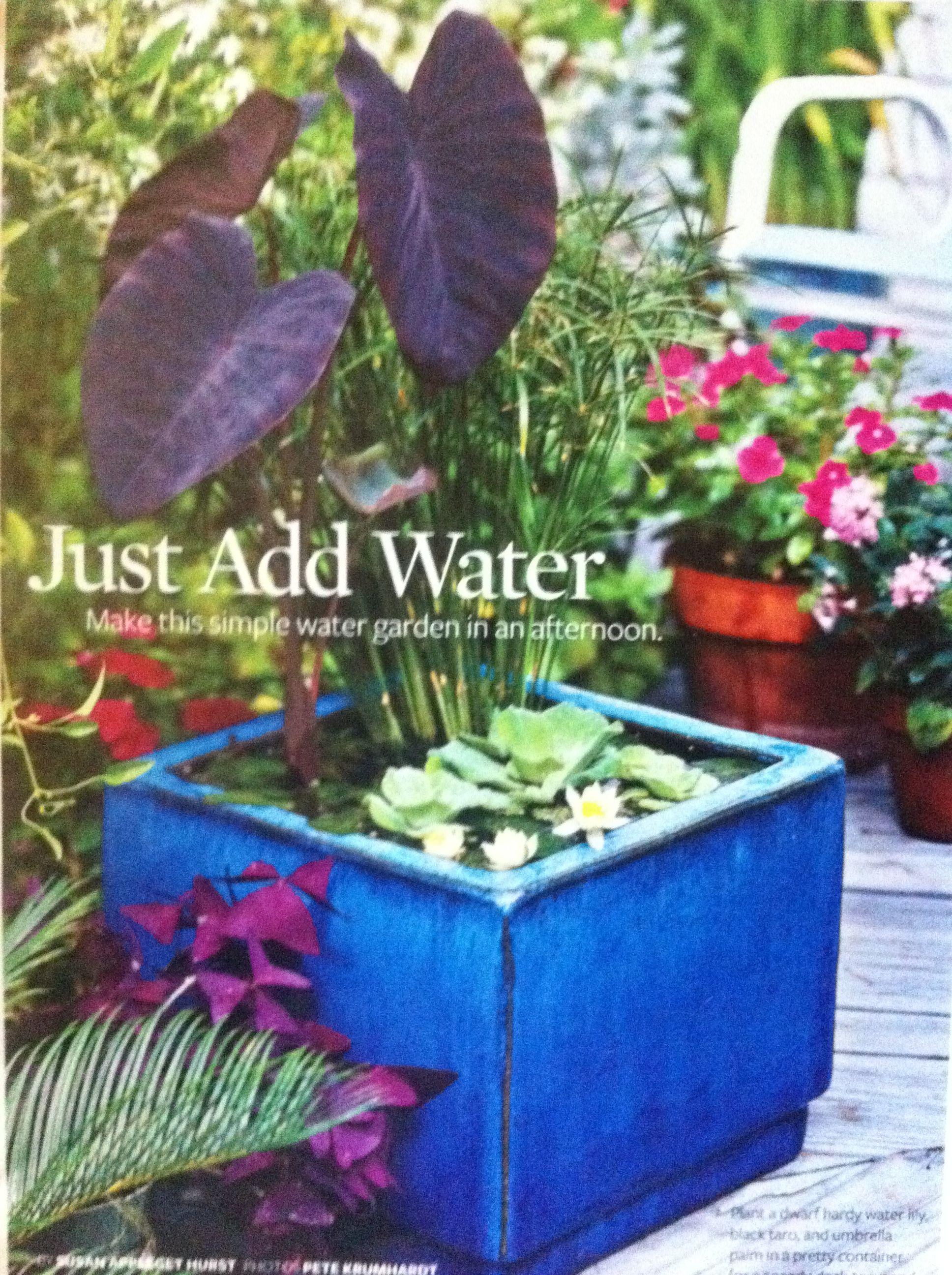 easy diy water element gardens of delight pinterest water