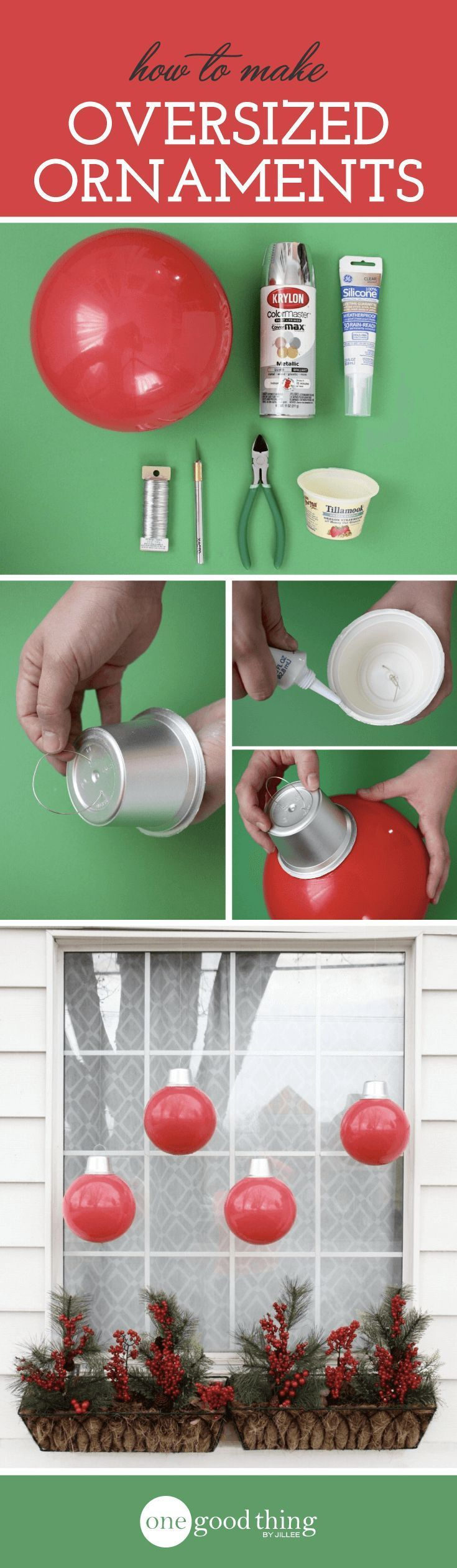 How To Make Cheap and Easy Giant Christmas Ornaments ...