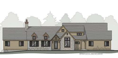 Mill Brook Timber Frame Floor Plan By Mill Creek