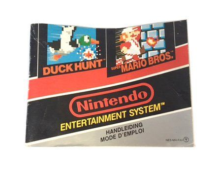 NES – Duck Hunt & Super Mario Bros Instructions (EU)  Nintendo  Manuals & Inserts www.detoyboys.nl