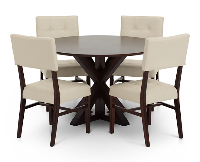 Belle Fontaine 5 Pc Dining Room Set Dining Rowe Furniture