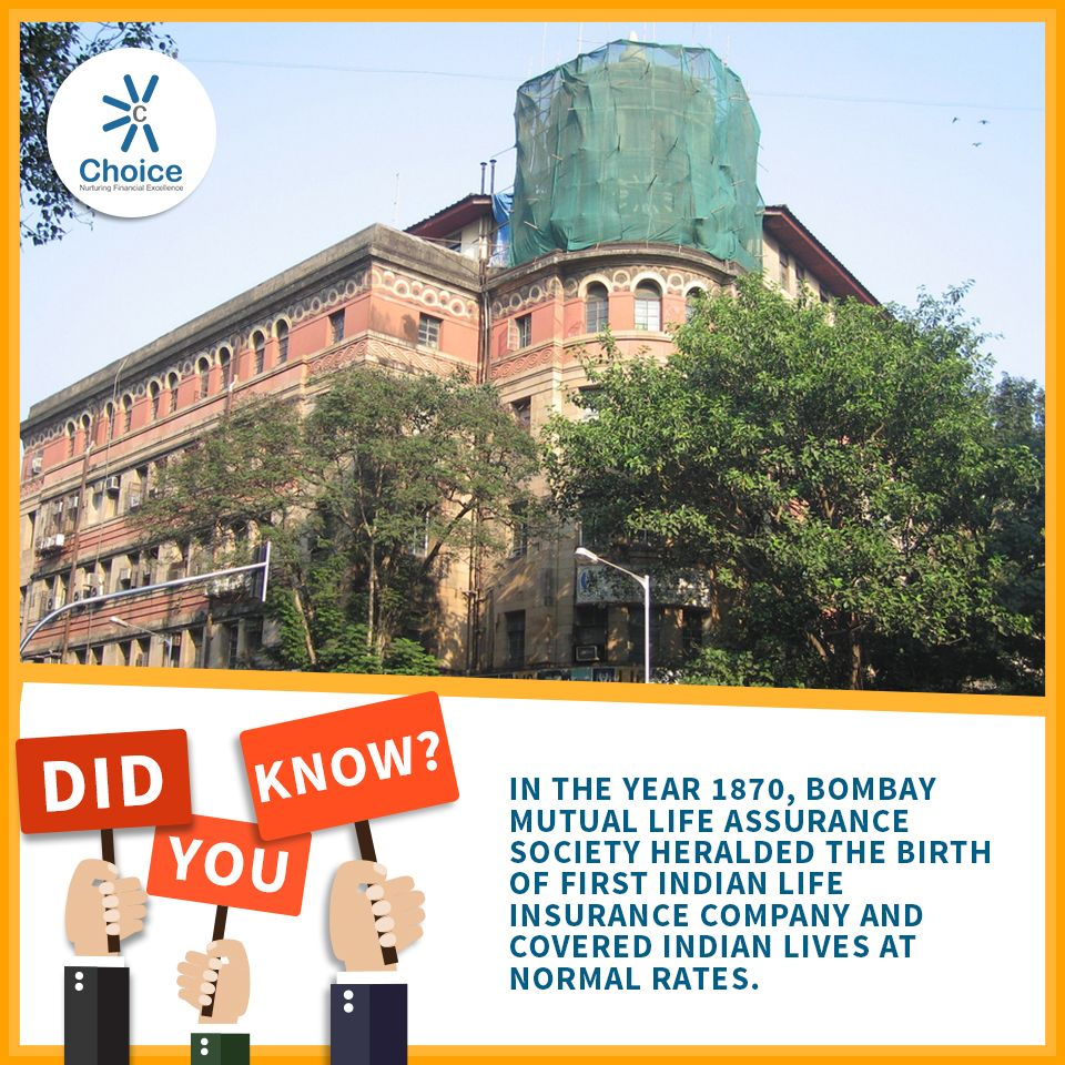 Choicebroking Trivia In The Year 1870 Bombay Mutual Life