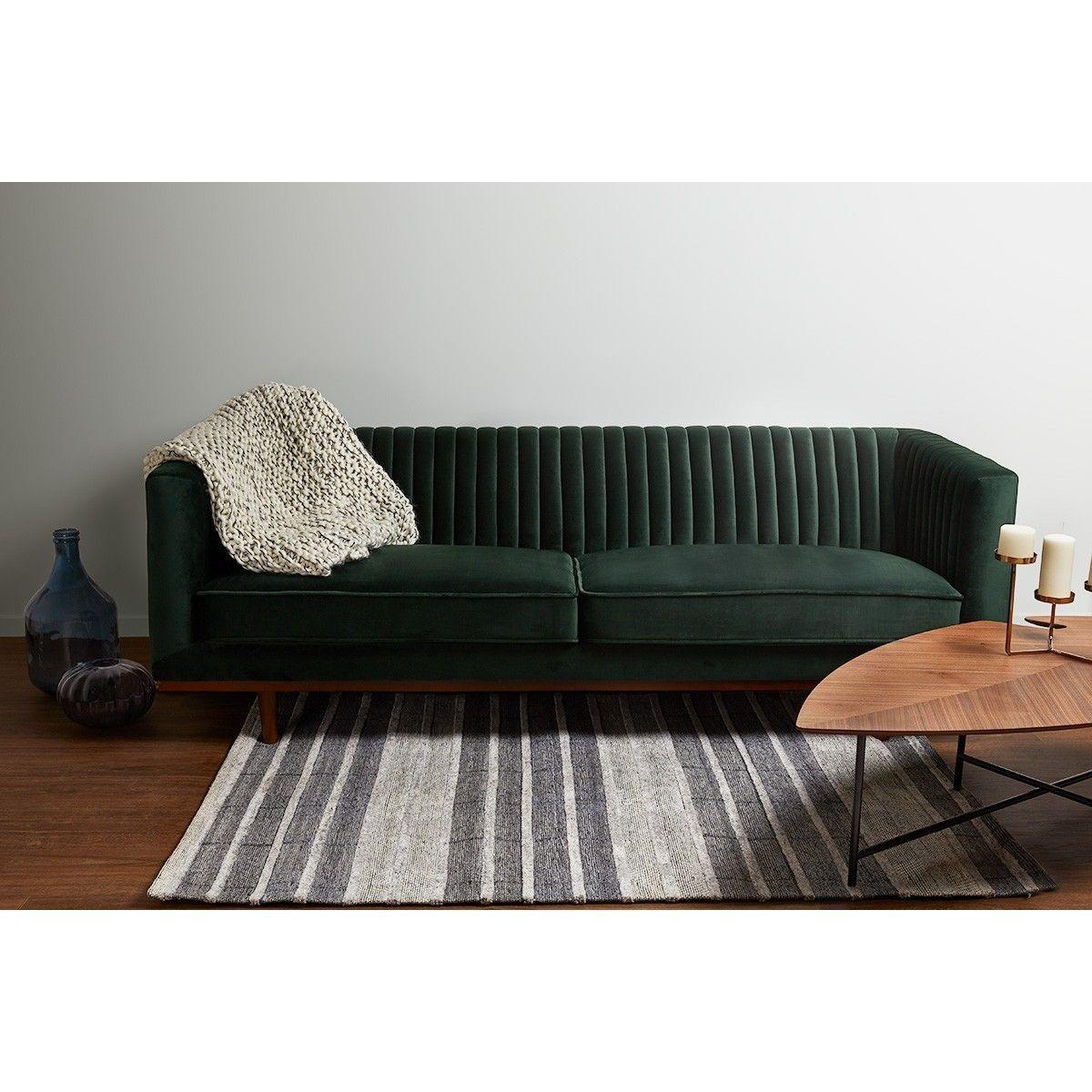 Tapis Laine Et Viscose Gris 170 X 120 Cm Feni Taille 120x170 Cm Mobilier De Salon Interieur Maison Et Canape Velours Vert