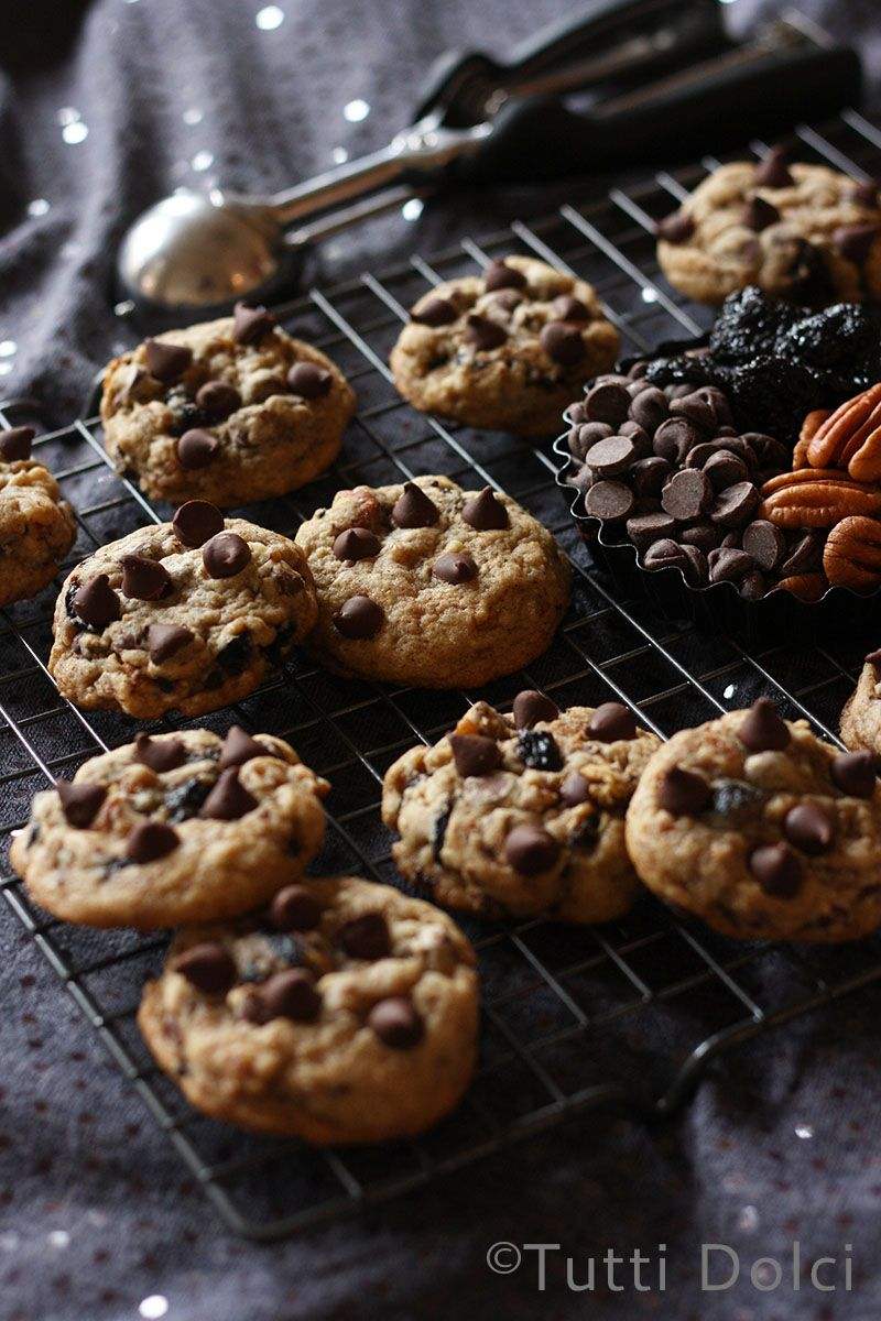 Chocolate, Cherry & Pecan Cookies | Tutti Dolci